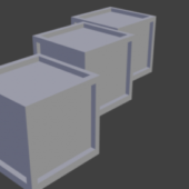 Lowpoly Crate Boxes
