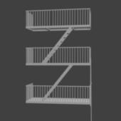 Fire Escape Stair