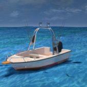 Fishboat On Sea