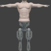 Character Half Man Half Robot