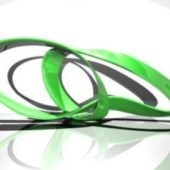 Green Curved Decoration