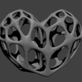 Lowpoly Wire Heart