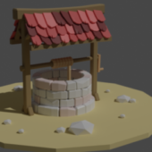 Antique Low Poly Well