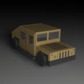 Lowpoly Humvee Car