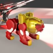 Red Lion Zord Character
