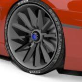 Simple Thin Car Wheel