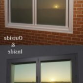 Apartment Window Low Poly