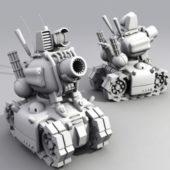Cartoon Tank Weapon