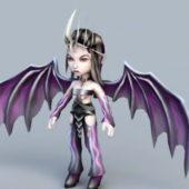 Anime Demon Wings Girl