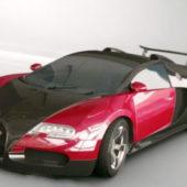 Red Bugatti Veyron Super Car