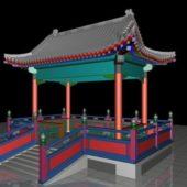 Ancient Chinese Pavilion Building