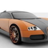 Orange Bugatti Veyron Car