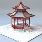Chinese Traditional Garden Pavilion