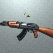 Russian Ak-47 Rifle Gun
