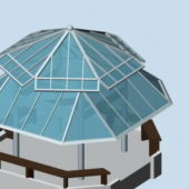 Glass Roof Gazebo Pavilion