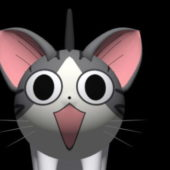 Cute Character Cartoon Cat