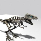 T-rex Skeleton Character