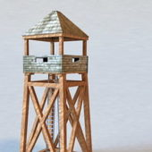 Military Wooden Guard Tower