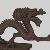 Chinese Dragon Stone Sculpture