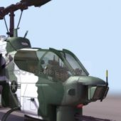 Military Ah-1 Cobra Attack Helicopter