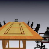 Conference Room Table Chairs Set