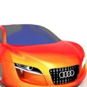 Orange Audi Concept Car