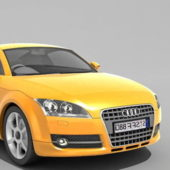 Yellow Audi Tt Coupe Car