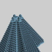 Hotel Pyramid Shaped Building V1