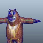 Anthropomorphic Bear Rigged
