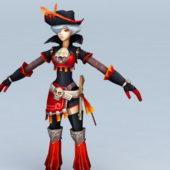 Anime Pirate Girl Character