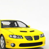 Yellow Pontiac Gto Car 2005