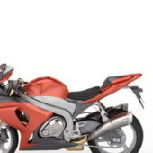 Red Sport Motorcycle