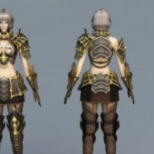 Beautiful Game Character Female Mage