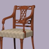 Antique Western Wooden Arm Chair