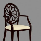 Antique Furniture Wooden Chair V3