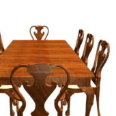Antique Rectangle Dining Table Set