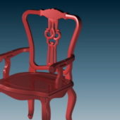 Antique Furniture Wooden Chair V4