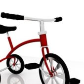 Children Red Tricycle