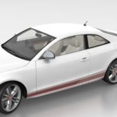 White Audi S5 Coupe Car V1