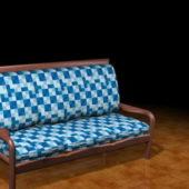 Furniture Upholstered Settee Bench V1