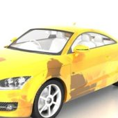 Yellow Audi Tt Sports Car