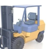 Electric Yellow Forklift Truck