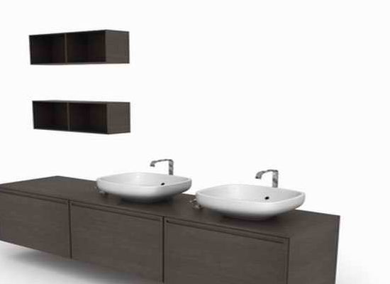 Double Sink Bathroom Vanity Furniture