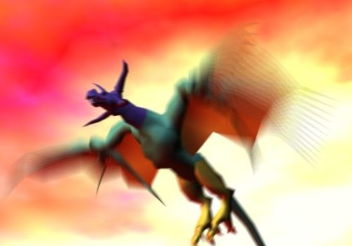 Animal Flying Dragon Rigged