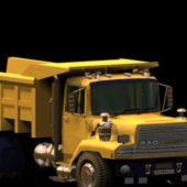 Yellow Dump Truck Vehicle