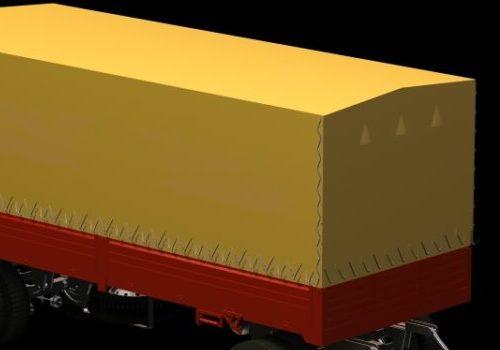 Yellow Semi-trailer Vehicle