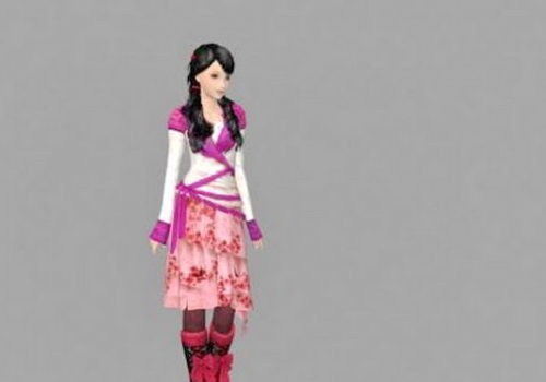 Ancient Chinese Girl Character