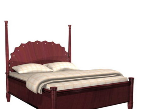 Classic Wood Bed Furniture V1