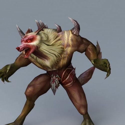 Werewolf Character Warrior