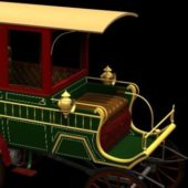 Vintage 1900 Wood Station Wagon